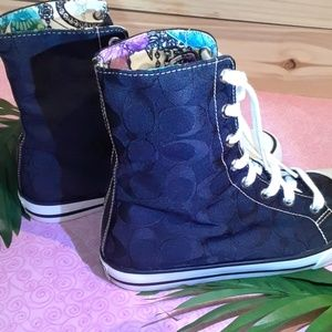 COACH High tops EUC